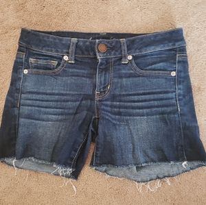 American Eagle Stretch Midi Cut Off Frayed…